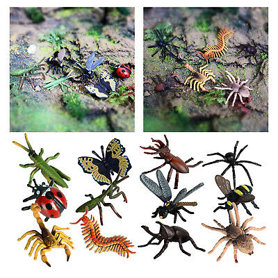£4.81 • Buy Plastic Insect Figures 12pcs Small Insects Bugs Figures Model Toys For Kids