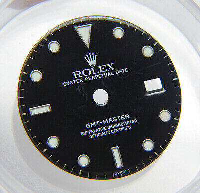 $ CDN566.48 • Buy Genuine Factory Rolex GMT-Master 16700 Glossy Black & Lume Watch Dial SWISS Only