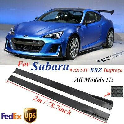 $73.99 • Buy 78.7'' Carbon Fiber Side Skirt Extension Lip Rocker For Subaru Impreza WRX STI