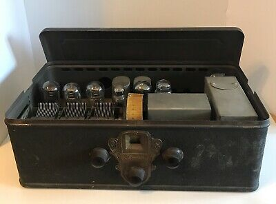 $ CDN158.59 • Buy VTG 1929 Silvertone Neutrodyne Model-92 Breadbox Radio W/ 7 Tubes - Untested