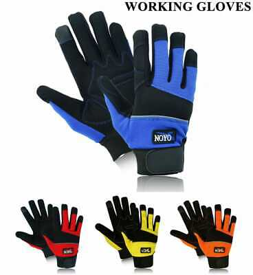 £6.99 • Buy Safety Work Gloves Heavy Duty Hand Protection Mechanic Gardening Builders Cut