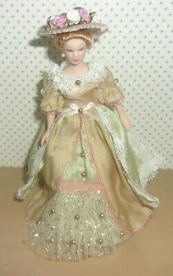 $ CDN37.89 • Buy 1:12 Scale Dollhouse Miniature 6  Handmade Victorian Porcelain Lady Doll