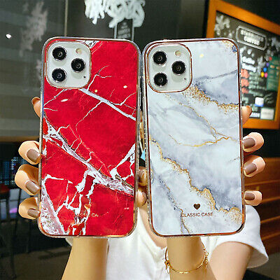 AU9.79 • Buy For IPhone 12 Pro Max 12 Mini 11 XR XS 8 7+ Case Marble Rubber Soft Slim Cover