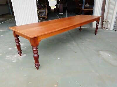 AU1680 • Buy Vintage Cedar Refectory Dining Table Timber Legs Over 100 Years Old.