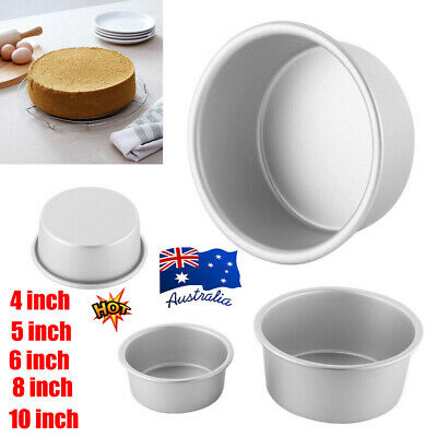 AU12.26 • Buy 4/5/6/8/10 Inch Cake Mold Round DIY Cakes Pastry Mold Baking Tin Pan Reusable S4