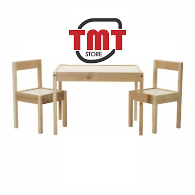New IKEA LATT 2 Chairs Wooden Pine And Children's Small Table Kids Furniture Set • 36.99£