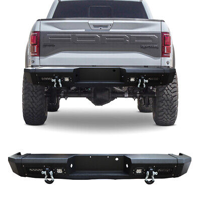 $699.99 • Buy Vijay Black Rear Bumper With 4 LED Lights Fits 2010-2014 FORD F-150 SVT Raptor