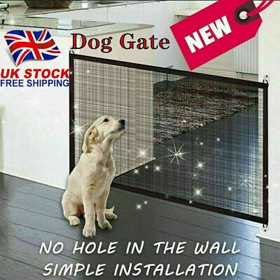 HOT SELL Retractable Pet Dog Gate Safety Guard Folding Baby Stair Gate Isolation • 8.99£