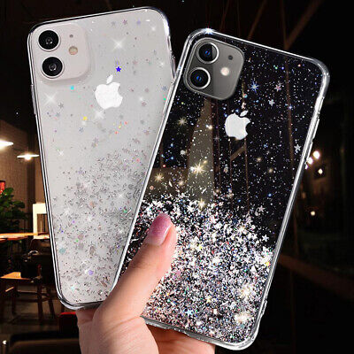 GLITTER Case For IPhone 11 12 Pro Max XS XR 8 7 Plus Shockproof Protective Cover • 2.49£