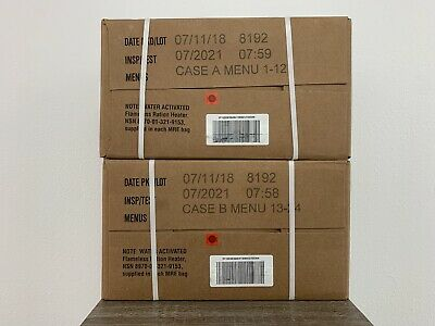 $179 • Buy 🔥24🔥MRE's 1 Set A&B Cases Meals Ready-to-Eat US Military Surplus 1/21-inspect