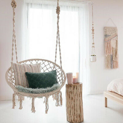 Hanging Hammock Rope Swing Chair Outdoor Indoor Garden Hammock Seat/Stand Frame • 159.54£