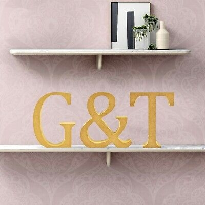 G & T - Wooden Word Free Standing MDF Letters Gin & Tonic Kitchen Sign 12cm High • 6.99£