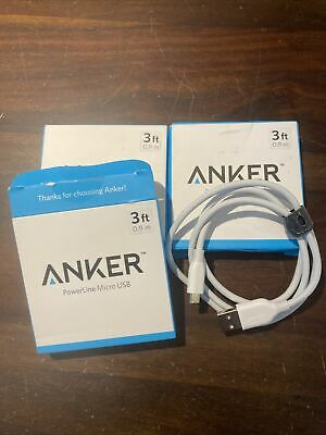 AU18.79 • Buy Anker PowerLine Micro USB 3ft Cable LOT OF 3 (one Is Open Box)