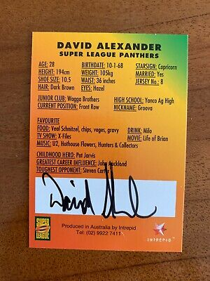 AU24.99 • Buy @ Signed # Nrl 1997 Intrepid Super League Penrith Card David Alexander Rare
