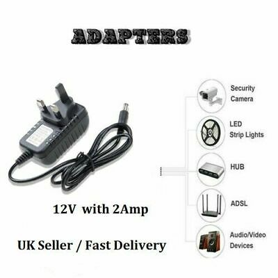 12V 2A AC/DC UK Power Supply Adapter Safety Charger For LED Strip CCTV Camera • 5.74£