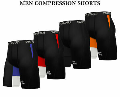 Mens Compression Shorts Base Layer Briefs Pant Thermal Running Gym Fitness Yoga  • 9.99£