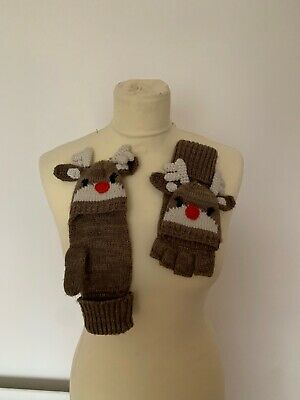 TU Reindeer Mits, Can Be Worn Two Ways, Brand New • 6.50£