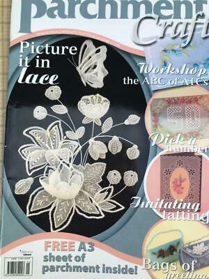 Parchment Craft Magazine January 2007 Bags, Lace Design, Valentine Cards Flowers • 2.50£