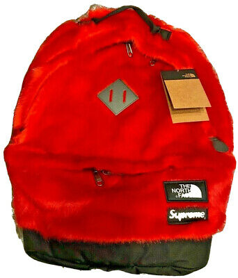 $ CDN273.34 • Buy Supreme X Tnf Collab Backpack Red Faux Fur Never Used New In Hand Ds North Face