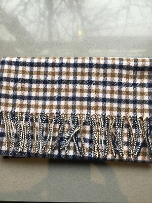 £36 • Buy New Genuine Aquascutum London Lambswool Scarf In Classic House Check