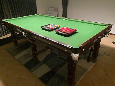 AU1950 • Buy 8ft Slate Pool/billiard Table And All Accessories Listed