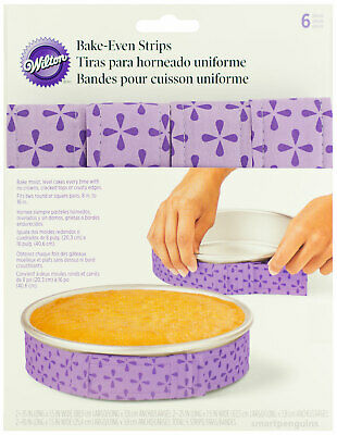 Wilton Bake-Even Strips 6pc For Baking Moist Level Cakes 415-0796 • 9.99£
