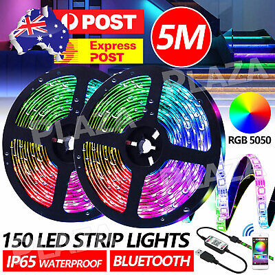 AU14.50 • Buy Bluetooth 5M LED Strip Lights 5050 RGB 5V USB Color Changing TV PC Back Light