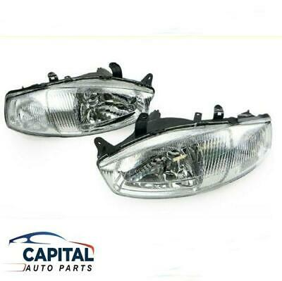 $224.21 • Buy Pair Of Headlights Left Right For Mitsubishi Lancer CE Coupe Series 2 1998-2002