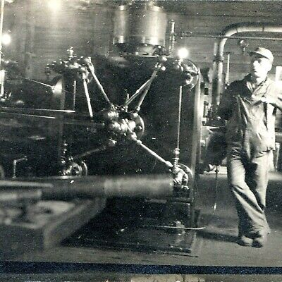 $34.50 • Buy C1910s Hinckley ME Factory Mill Real Photo RPPC Industrial Steam Motor Engine A2
