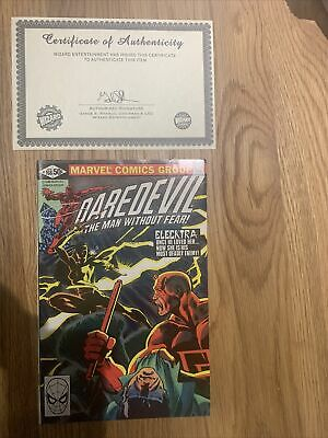 £460 • Buy Daredevil 168 Signed By Frank Miller With Certificate Of Authenticity!