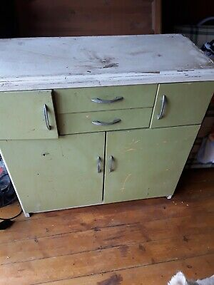 Retro Vintage 60s 70s Kitchen Cabinet, Upcycle Project • 60£