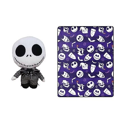 2pc The Nightmare Before Christmas Jack Skellington Throw And Pillow | 🆕 • 23£