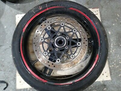 $100 • Buy 01-05 Suzuki Gsxr 600 750 01-04 Gsxr 1000 Oem Front Wheel Rim  With Tire Damaged
