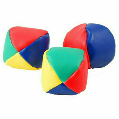 AU18.55 • Buy 3/6/12/24 Juggling Balls Circus Clown Coloured Learn Juggle Toy Game Soft Ball
