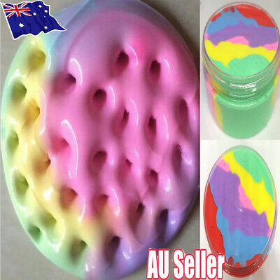 AU11.20 • Buy Rainbow Cotton Fairy Cloud Slime Fluffy Icecream Mud Stress Relief Kids Toy MN