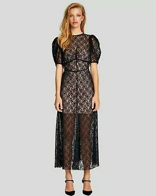 AU95 • Buy ALICE MCCALL On + On Lace Maxi Dress Sz 12 BNWT Cut Out Detail Sheer