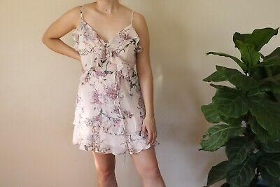 AU30 • Buy Forever New Size 10 Pink Floral Summer Dress - Barely Worn