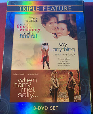 AU16.16 • Buy Four Weddings And A Funeral Say Anything When Harry Met Sally Triple Feature Dvd