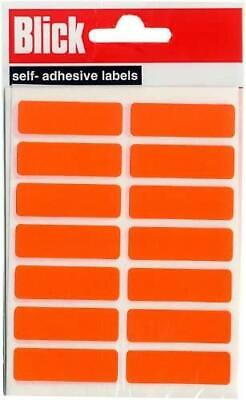 £4.24 • Buy Blick Self Adhesive Labels Cable Tags 12 X 38mm Label Pack - Orange (98 Labels)
