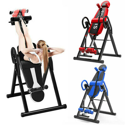 £114.82 • Buy Foldable Gravity Inversion Table Back Therapy Fitness Inverter Machine Folding