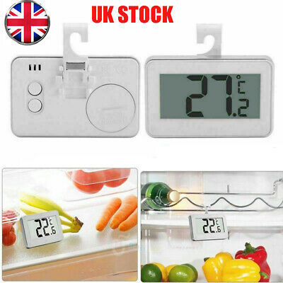 Waterproof LCD Digital Freezer Fridge Thermometer With Hanging Hook Magnet Home • 5.11£