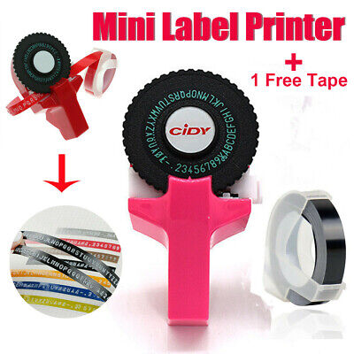 Manual Embossing Label Maker Letter Typewriter Printer Refill With Free  Tapes • 8.59£