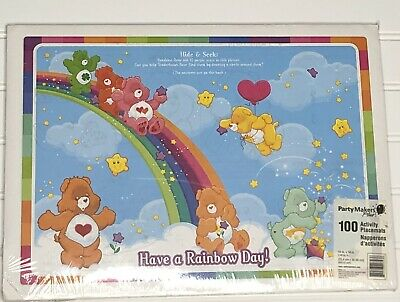 £36.16 • Buy Care Bears Rainbow Paper Activity Placemats 100 Count Sealed