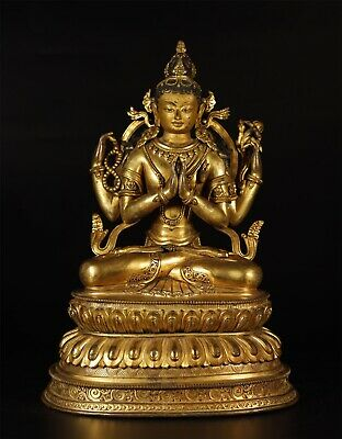 A Superb  Gilt Bronze Tibetan Guanyin Of The Qing Period • 16,000£