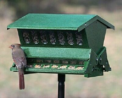 Outdoor Double Sided Absolute II Bird Feeder With Pole & Hanger Squirrel Proof  • 70.94£