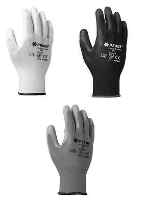 £2.59 • Buy Work Protective  PU Coated Safety Gloves For Builders Gardening Construction Diy