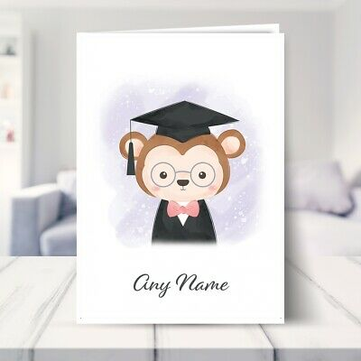$ CDN5.11 • Buy 1st Birthday Card For Girls 2nd 3rd 4th 5th. Graduation Monkey. Christening Card