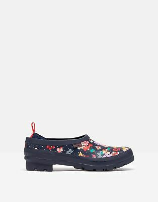Joules Womens Pop On Printed Welly Clogs - Navy Blossom Spot • 34.16£