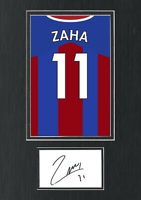 £69.99 • Buy Wilfred Zaha Hand Signed Autograph A3 Crystal Palace Shirt Poster Display COA