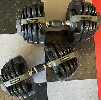 $ CDN888.08 • Buy PAIR Of Bowflex SelectTech 552 Adjustable Dumbbells Weights Up To 52.5lbs Each